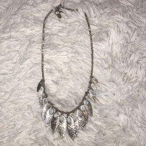 Boho Bohemian Feather Adjustable Choker Necklace